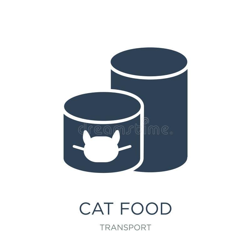 icône d'aliments pour chats dans le style à la mode de conception icône d'aliments pour chats d'isolement sur le fond blanc appar illustration libre de droits