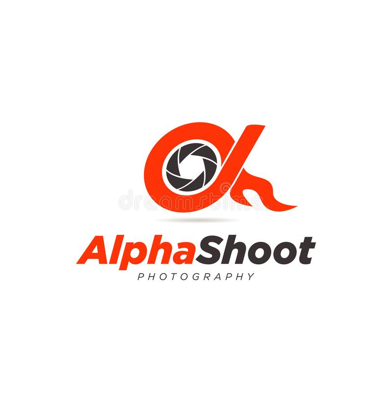 Icône d'Alpha Shoot Photography Logo Symbol illustration de vecteur
