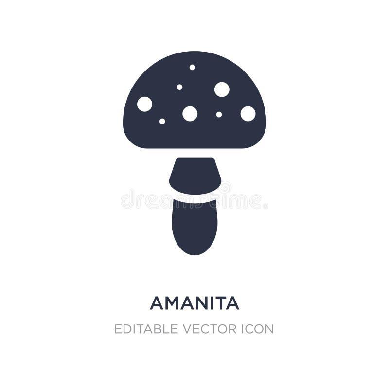 icône d'amanite sur le fond blanc Illustration simple d'élément de concept de nature illustration de vecteur