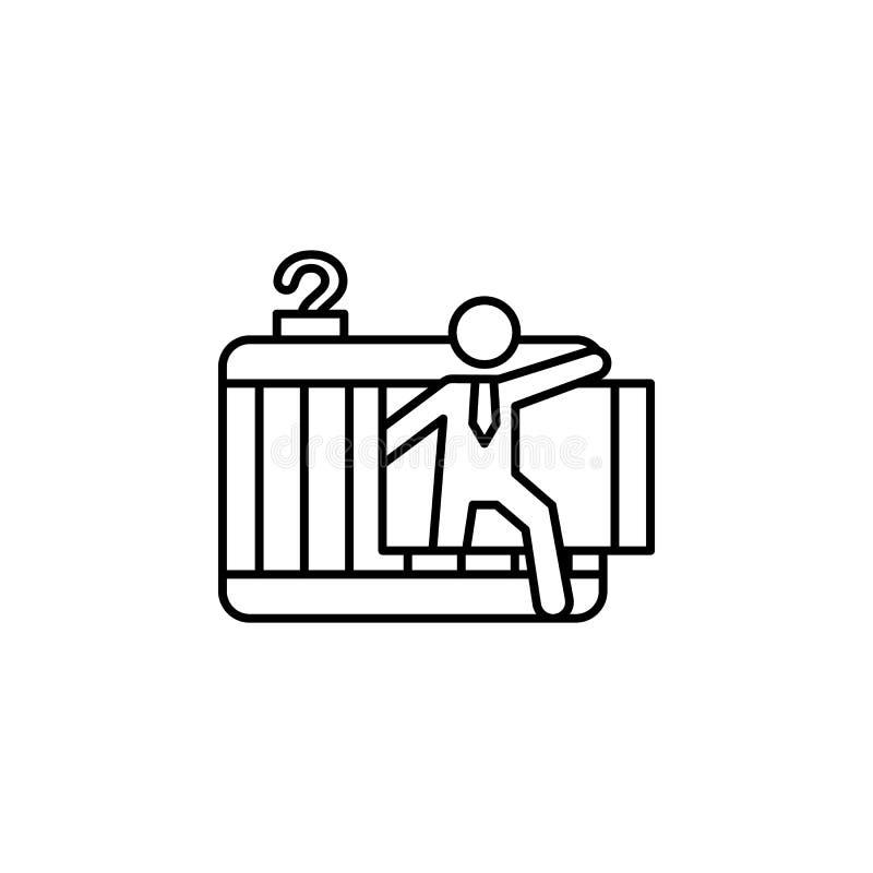? icône d'ambition de liberté de nspiration Élément de ligne icône de motivation d'affaires illustration stock