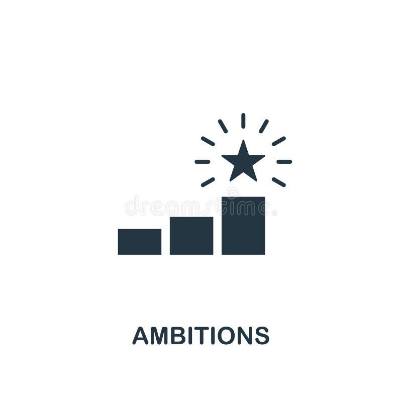 Icône d'ambitions Conception créative d'élément de collection d'icônes de productivité Icône parfaite d'ambitions de pixel pour l illustration libre de droits