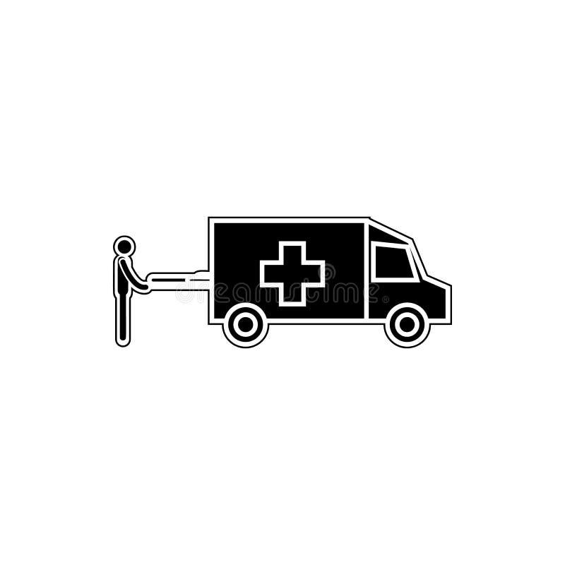 Icône d'ambulance Élément de médecine pour le concept et l'icône mobiles d'applis de Web Glyph, icône plate pour la conception de illustration stock
