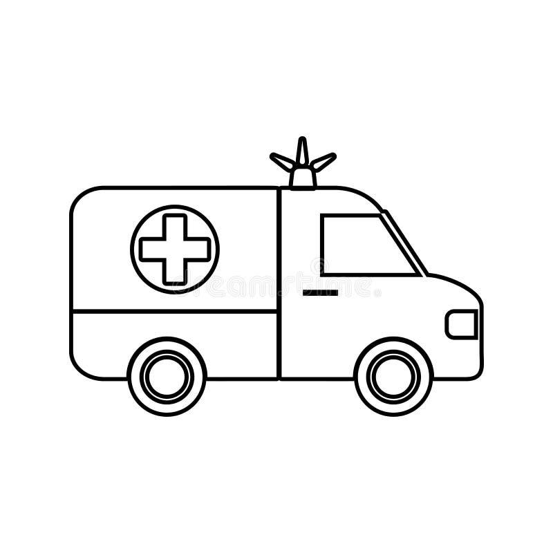 Icône d'ambulance Élément de sécurité de cyber pour le concept et l'icône mobiles d'applis de Web Ligne mince icône pour la conce illustration de vecteur