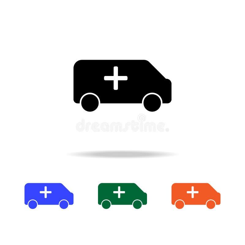 Icône d'ambulance Éléments d'icône simple de Web dans la couleur multi Icône de la meilleure qualité de conception graphique de q illustration de vecteur