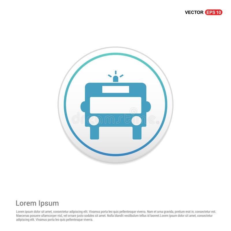 Icône d'ambulance - bouton blanc de cercle illustration de vecteur
