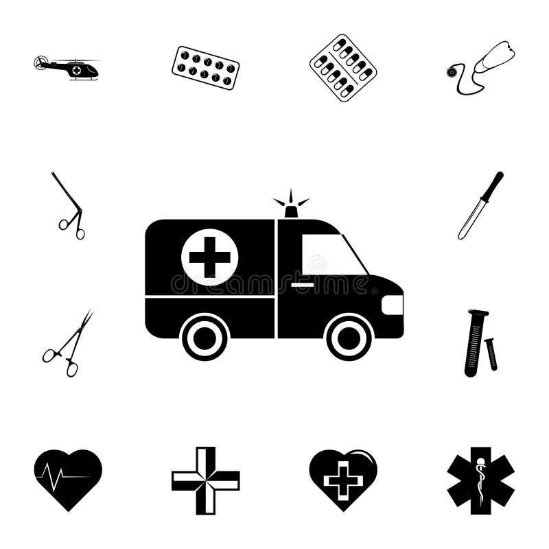 Icône d'ambulance Ensemble détaillé d'icônes de médecine Signe de la meilleure qualité de conception graphique de qualité Une des illustration libre de droits