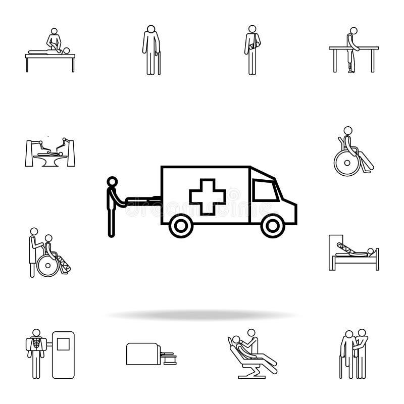Icône d'ambulance Ensemble universel d'icônes de médecine pour le Web et le mobile illustration stock