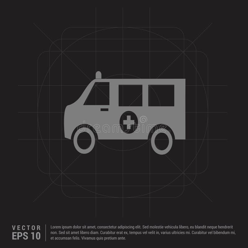 icône d'ambulance - fond créatif noir illustration de vecteur