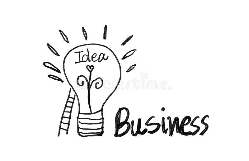 Icône d'ampoule avec l'illustration de vecteur d'escalier, concept créatif d'idée d'affaires illustration libre de droits