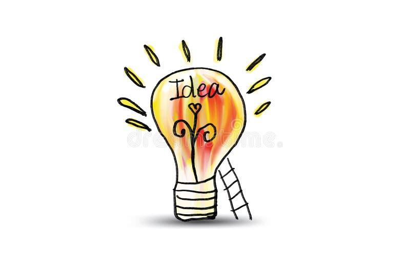 Icône d'ampoule avec l'illustration de vecteur d'escalier Concept ou pensée créative illustration de vecteur