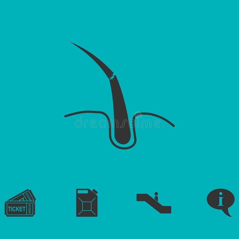 Icône d'ampoule de cheveux plate illustration libre de droits