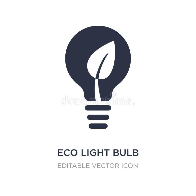 icône d'ampoule d'eco sur le fond blanc Illustration simple d'élément de concept d'outils et d'ustensiles illustration stock