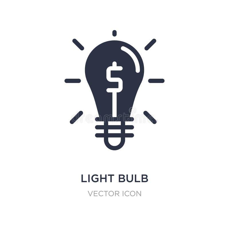 Icône d'ampoule sur le fond blanc Illustration simple d'élément de concept d'économie de Digital illustration de vecteur
