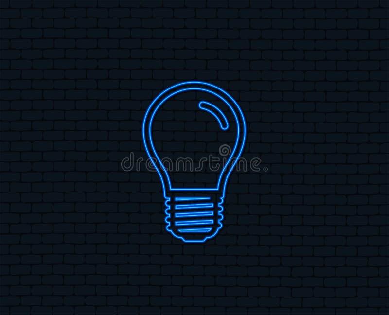 Icône d'ampoule Symbole de prise de vis de la lampe E27 illustration stock
