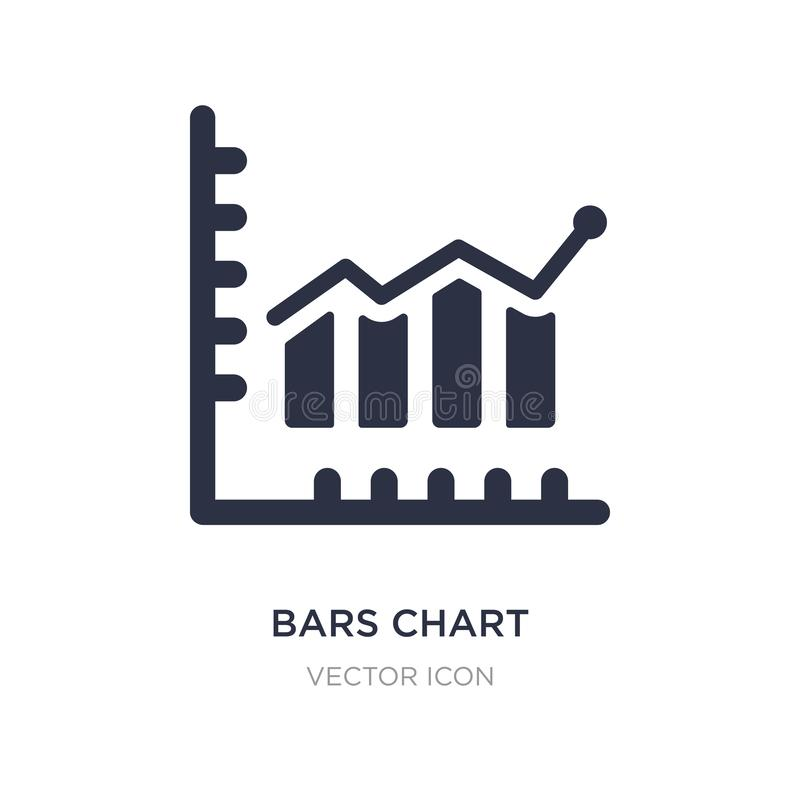icône d'analyse d'histogramme sur le fond blanc Illustration simple d'élément de concept d'affaires et d'analytics illustration de vecteur