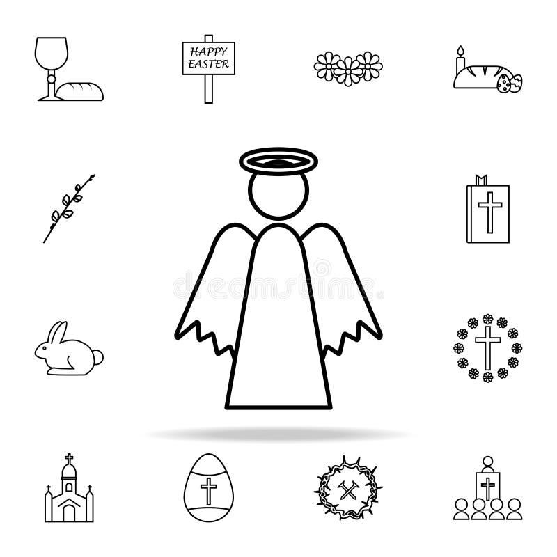 Icône d'ange Ensemble universel d'icônes de Pâques pour le Web et le mobile illustration stock