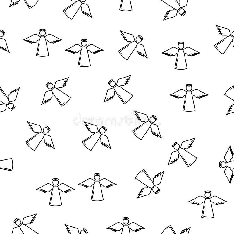 Icône d'Angel Line dans le style de modèle Un icône d'ange et de démons de collection peut être employé pour UI, UX sur le fond b illustration de vecteur
