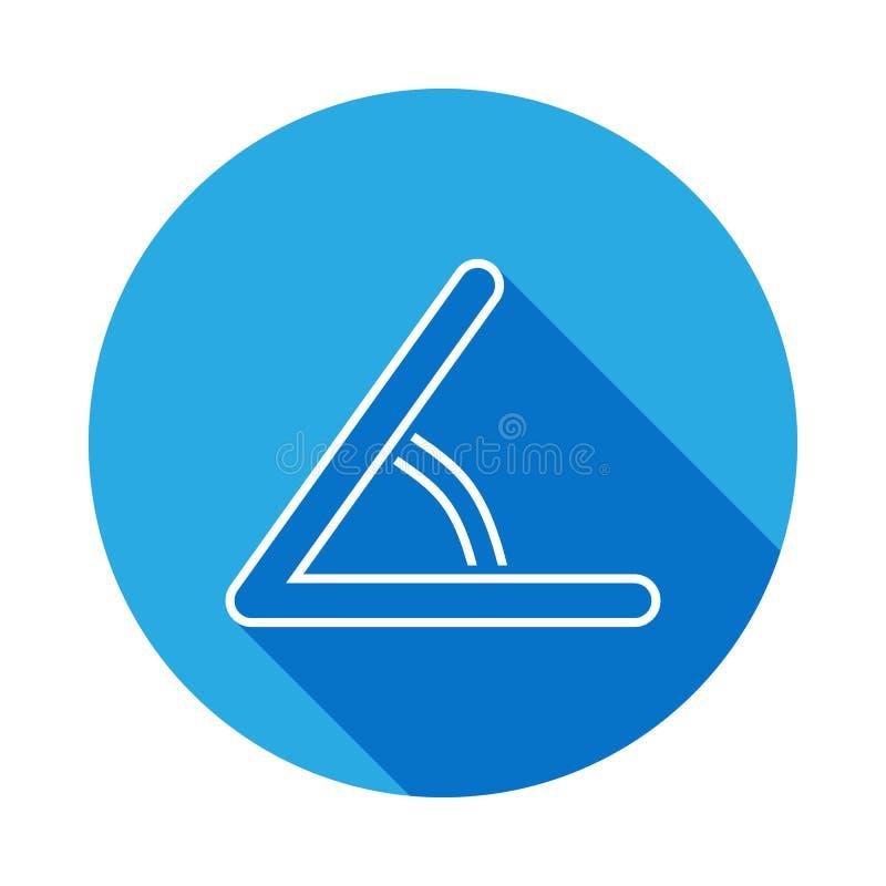 icône d'angle de signe avec la longue ombre Ligne mince icône pour la conception de site Web et le développement, développement d illustration libre de droits