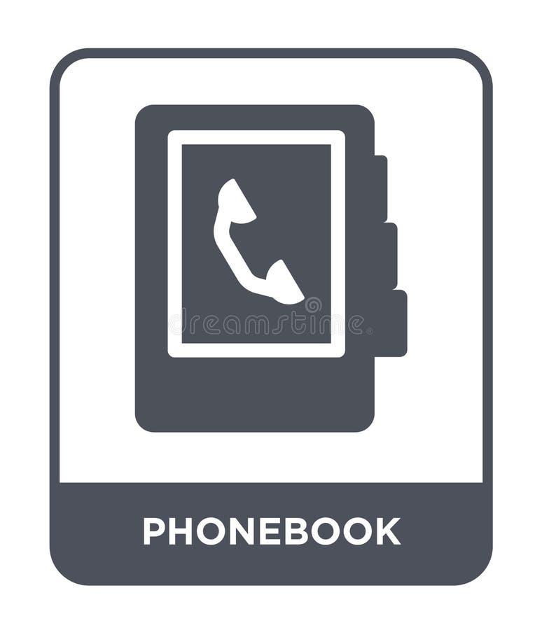 icône d'annuaire téléphonique dans le style à la mode de conception icône d'annuaire téléphonique d'isolement sur le fond blanc a illustration de vecteur