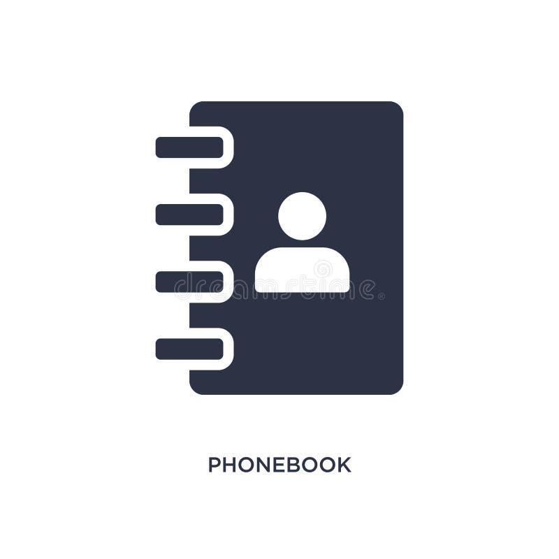 Icône d'annuaire téléphonique sur le fond blanc Illustration simple d'élément de concept de stratégie illustration stock