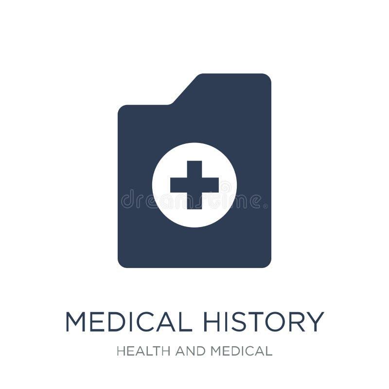 Icône d'antécédents médicaux Icône plate à la mode d'antécédents médicaux de vecteur dessus illustration de vecteur