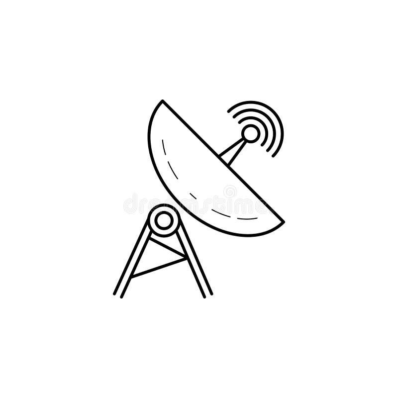 Icône d'antenne parabolique Élément d'illustration de navigation Icône de la meilleure qualité de conception graphique de qualité illustration de vecteur