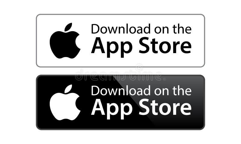Icône d'app store d'Apple illustration de vecteur