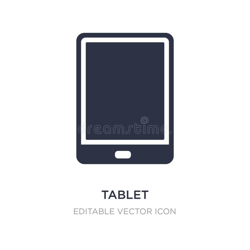icône d'appareil électronique de comprimé sur le fond blanc Illustration simple d'élément de concept d'ordinateur illustration de vecteur