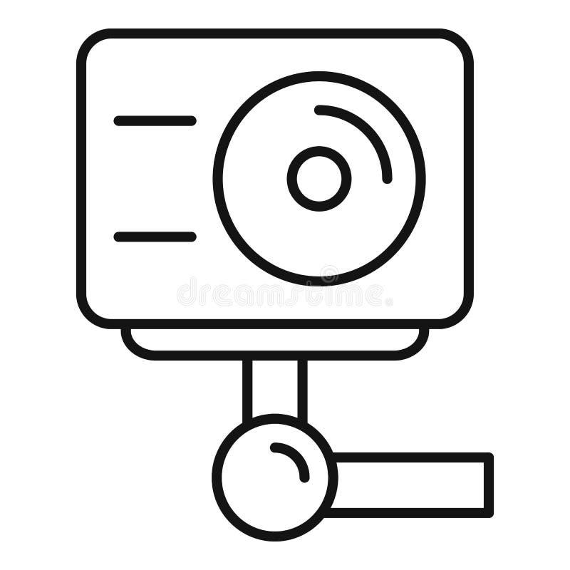 Icône d'appareil-photo d'action, style d'ensemble illustration de vecteur