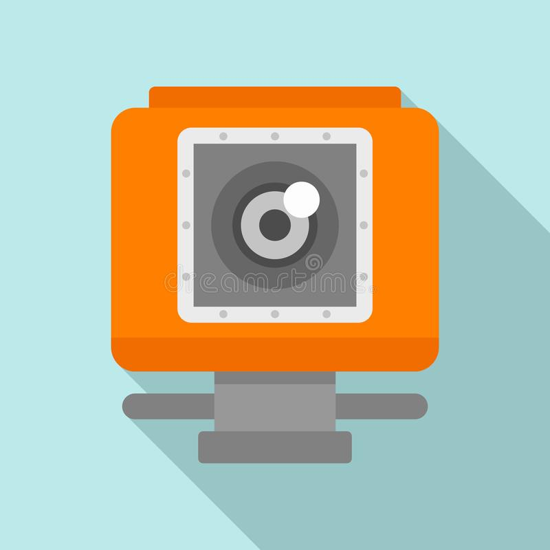 Icône d'appareil-photo d'action, style plat illustration libre de droits