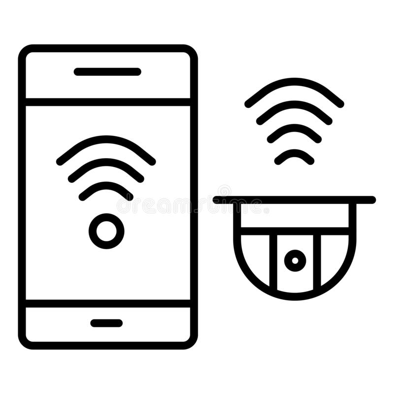 icône d'appareil-photo de télévision en circuit fermé illustration de vecteur