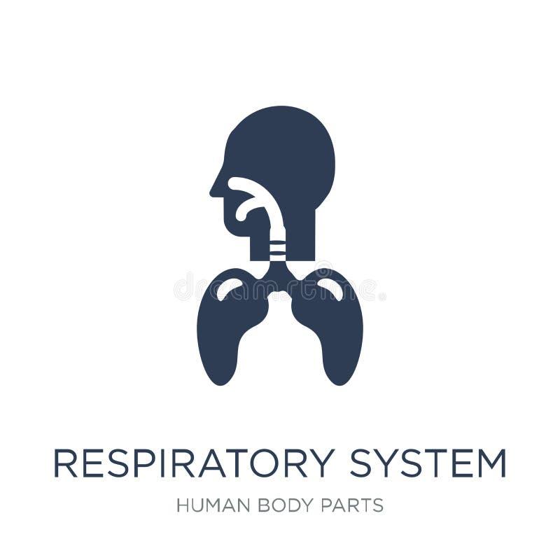 Icône d'appareil respiratoire Appareil respiratoire plat à la mode i de vecteur illustration libre de droits