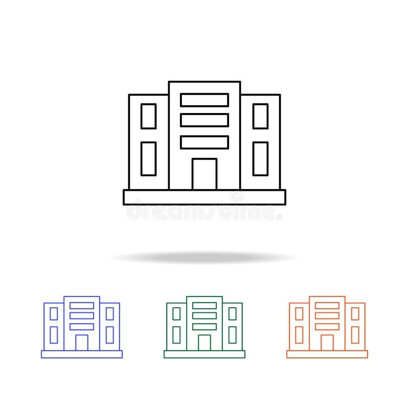 Icône d'appartements de bâtiment Éléments des immobiliers dans les icônes colorées multi Icône de la meilleure qualité de concept illustration libre de droits