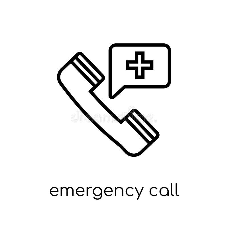 Icône d'appel d'urgence Urgence linéaire plate moderne à la mode de vecteur illustration stock