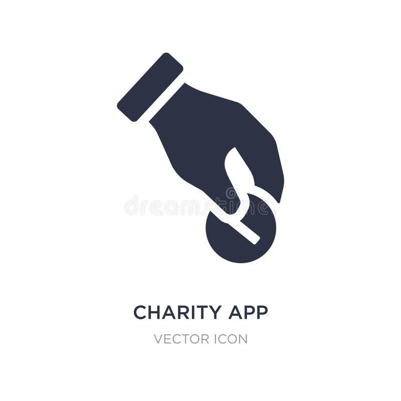 icône d'appli de charité sur le fond blanc Illustration simple d'élément de concept de charité illustration de vecteur