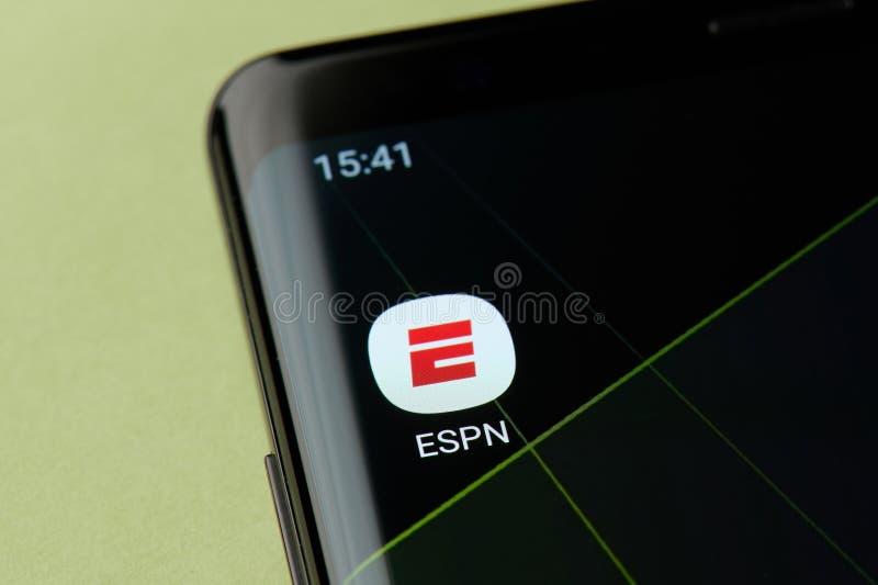 Icône d'appli d'ESPN photos stock