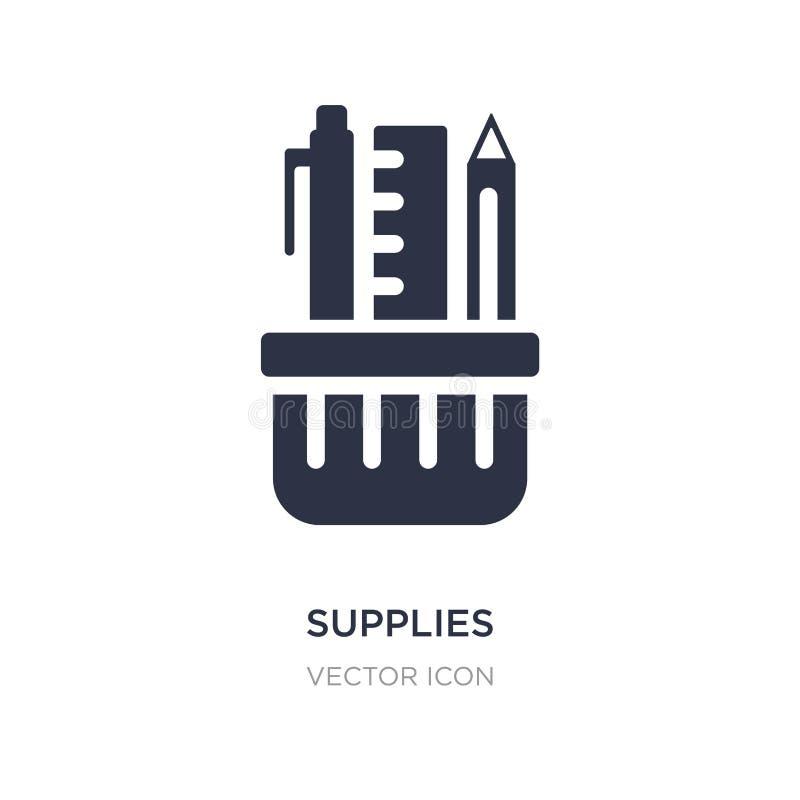 icône d'approvisionnements sur le fond blanc Illustration simple d'élément de concept d'affaires et d'analytics illustration de vecteur
