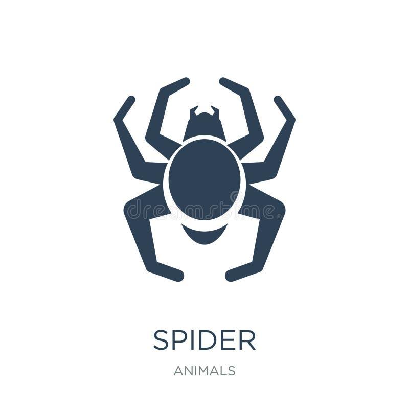 icône d'araignée dans le style à la mode de conception Icône d'araignée d'isolement sur le fond blanc symbole plat simple et mode illustration stock