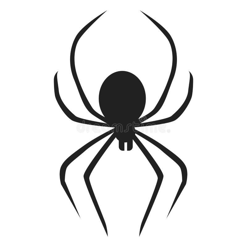 Icône d'araignée de la mort, style simple illustration libre de droits