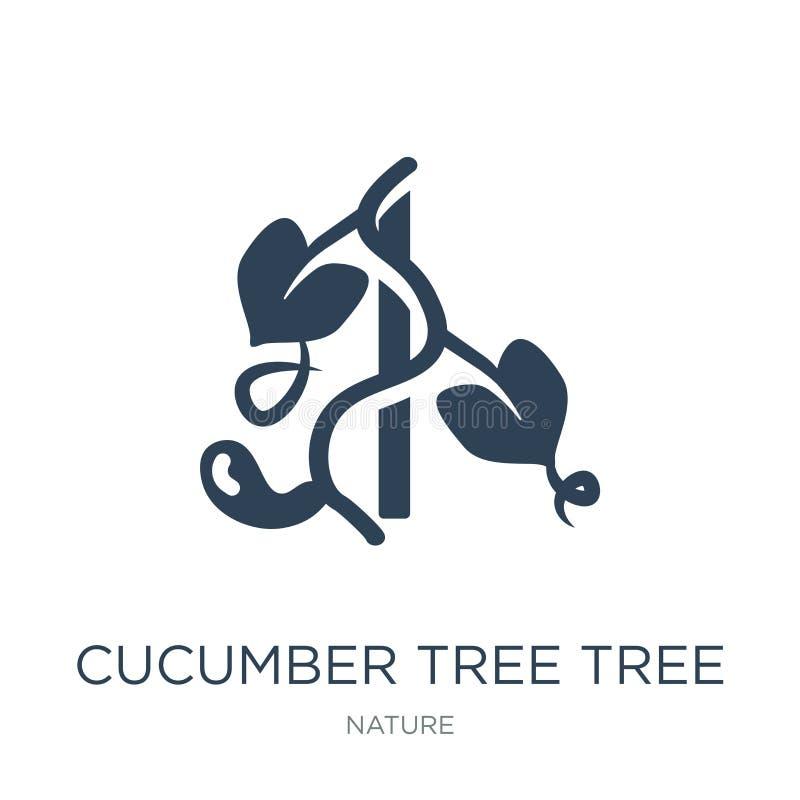 icône d'arbre de bilimbi dans le style à la mode de conception icône d'arbre de bilimbi d'isolement sur le fond blanc vecteur d'a illustration stock