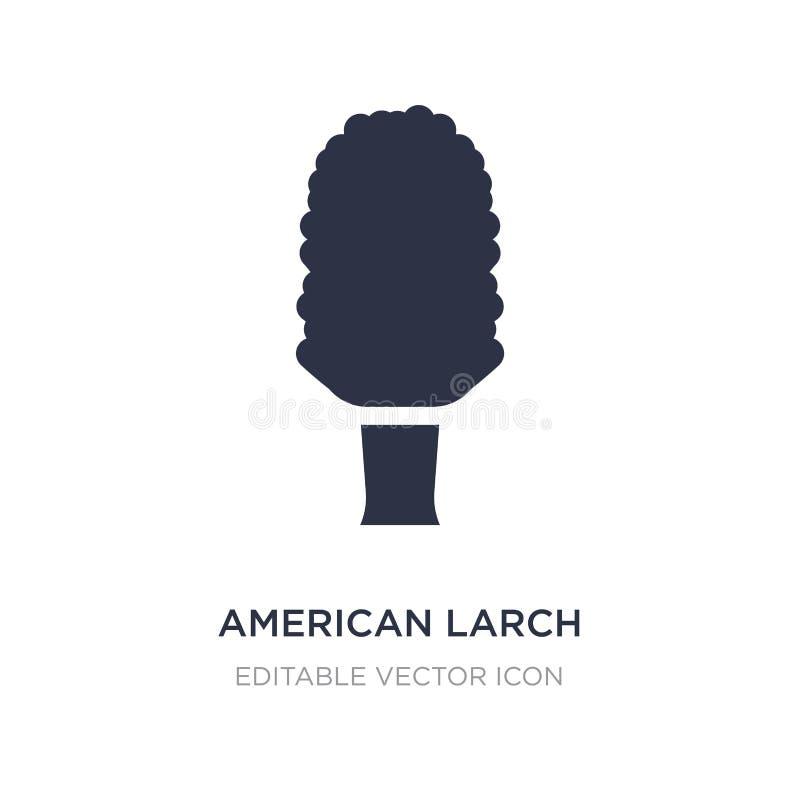 icône d'arbre de mélèze américain sur le fond blanc Illustration simple d'élément de concept de nature illustration de vecteur