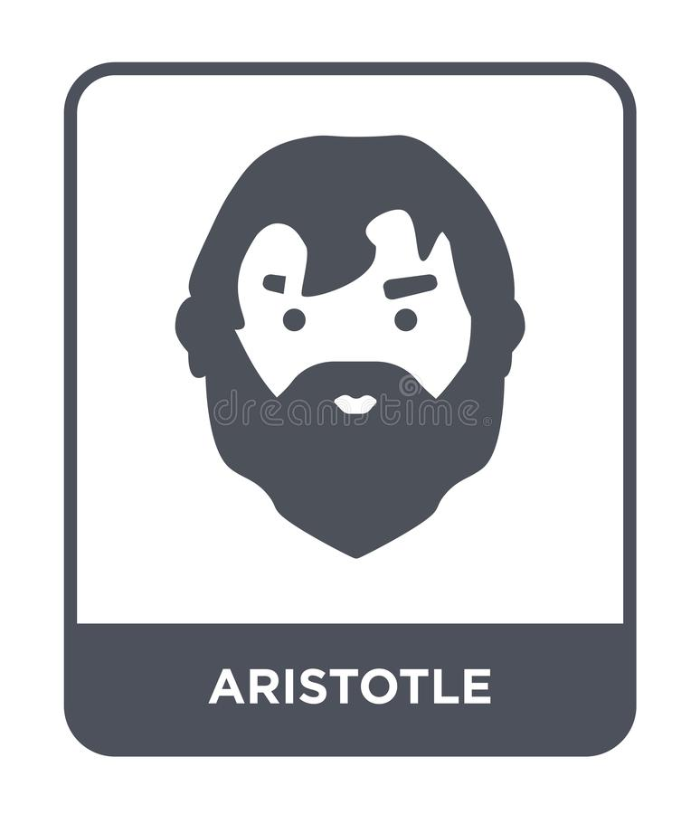 icône d'Aristote dans le style à la mode de conception icône d'Aristote d'isolement sur le fond blanc appartement simple et moder illustration stock
