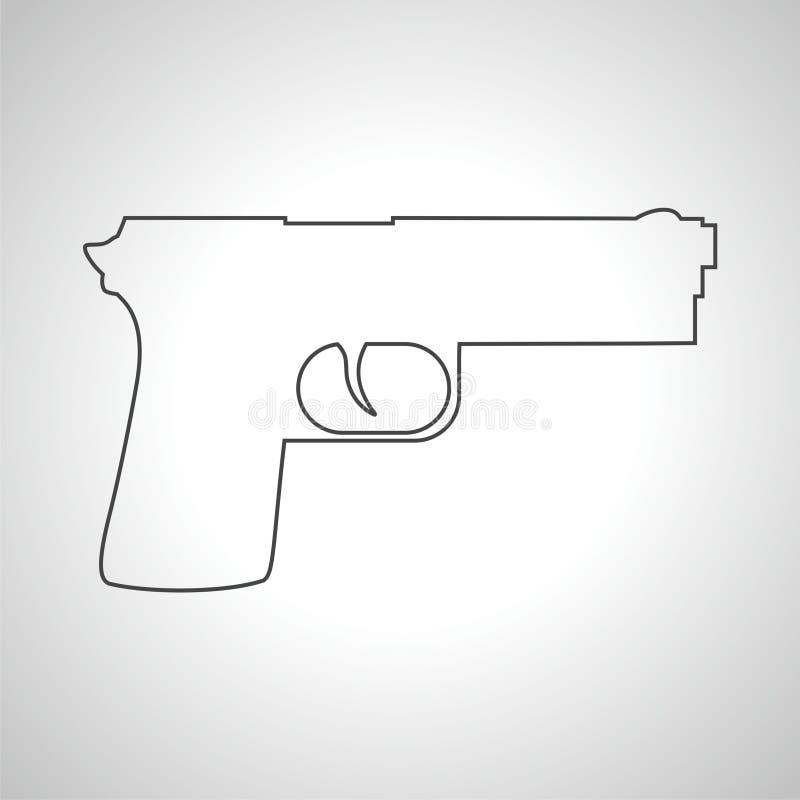 Icône d'arme à feu illustration de vecteur