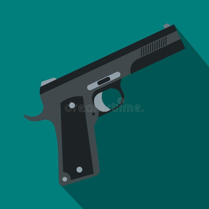 Icône d'arme à feu, style plat illustration de vecteur