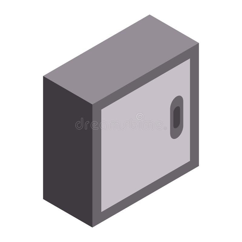 Icône d'armoire de garage, style isométrique illustration stock