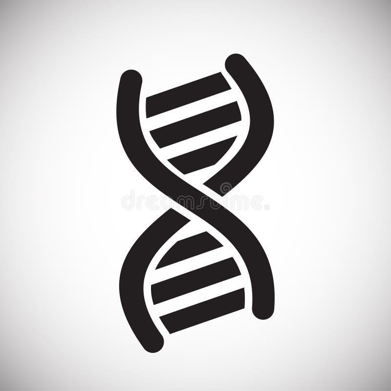Icône d'ARN d'ADN sur le fond blanc pour le graphique et la conception web, signe simple moderne de vecteur Internet bleu de conc illustration stock