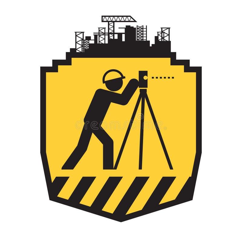 Icône d'arpenteur de terre illustration stock