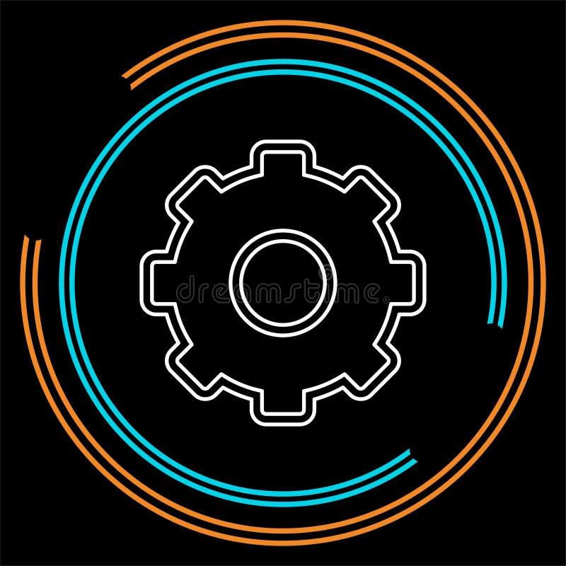 Icône d'arrangements de vitesses - mécanisme de vitesse de roue dentée illustration libre de droits
