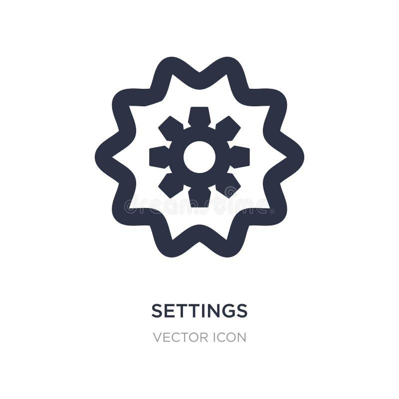 Icône d'arrangements sur le fond blanc Illustration simple d'élément de concept d'UI illustration stock