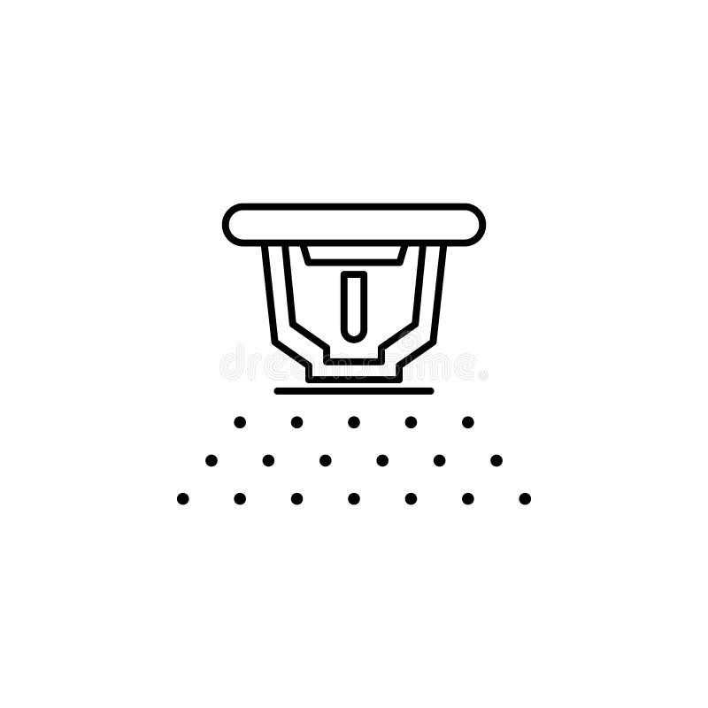 Icône d'arroseuse du feu Élément d'icône de arrosage d'égouttement pour les apps mobiles de concept et de Web La ligne mince icôn illustration libre de droits